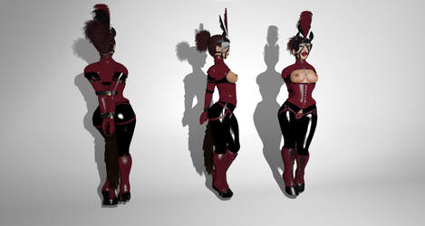Fetish Fashion Experiments - Red Pony by PogueInPink