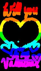 Valentine's card template (transparent) - Rainbow by KyMatheson