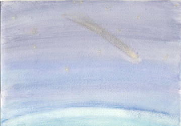 Meteor - Watercolor by KyMatheson