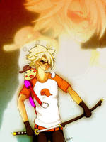 Homestuck - Dirk and Lil Cal by katoryu-diethel