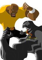 Luke Cage VS Venom by Apollorising