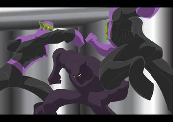 Black Panther VS Skrulls by Apollorising