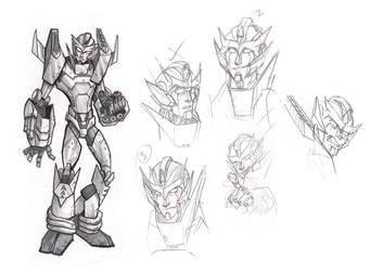 Rodimus Prime sketches by Nonvieta