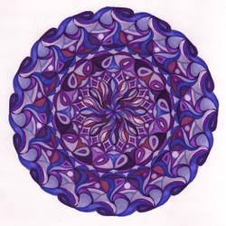purple passion mandala by lunelac
