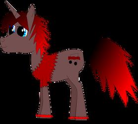 MLP FiM OC: Blacky Red Bacon by Zageus