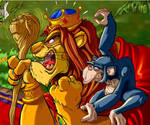 Lion king - fragment by CARUTOONS