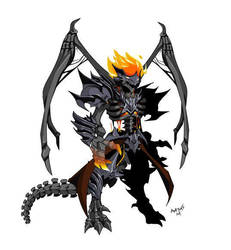 Inferno Dracolich with wings by Axeros