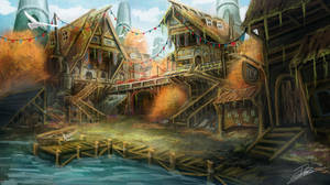 Fantasy Town by Jcinc1