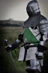 Knight in green and white by Georgina-Gibson