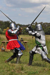 Medieval Knights fighting1 by Georgina-Gibson