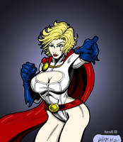 Power Girl by Slayfire Colored by hotrod5