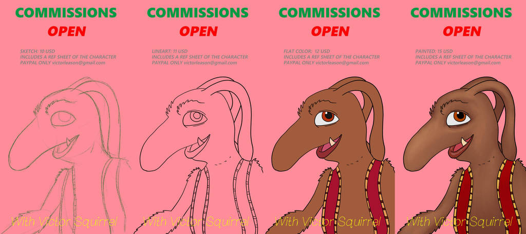 Commissions info July'18 by VictorLeason