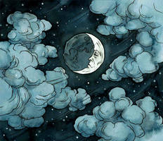 Cloudy night by LiigaKlavina