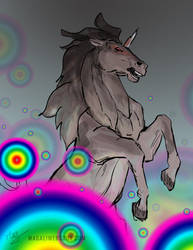 Freaked out Unicorn by Magali-Mebsout