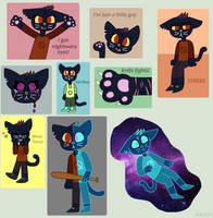 Night in the Woods - Mae Doodles by Ravenslpash26