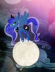 Moon by SamPonie