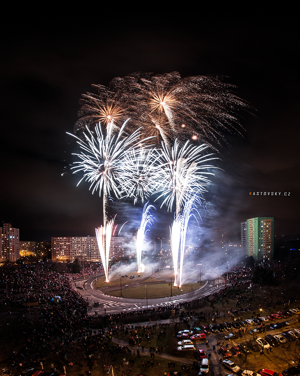 Ostrava - Hrabuvka Firework by Zavorka