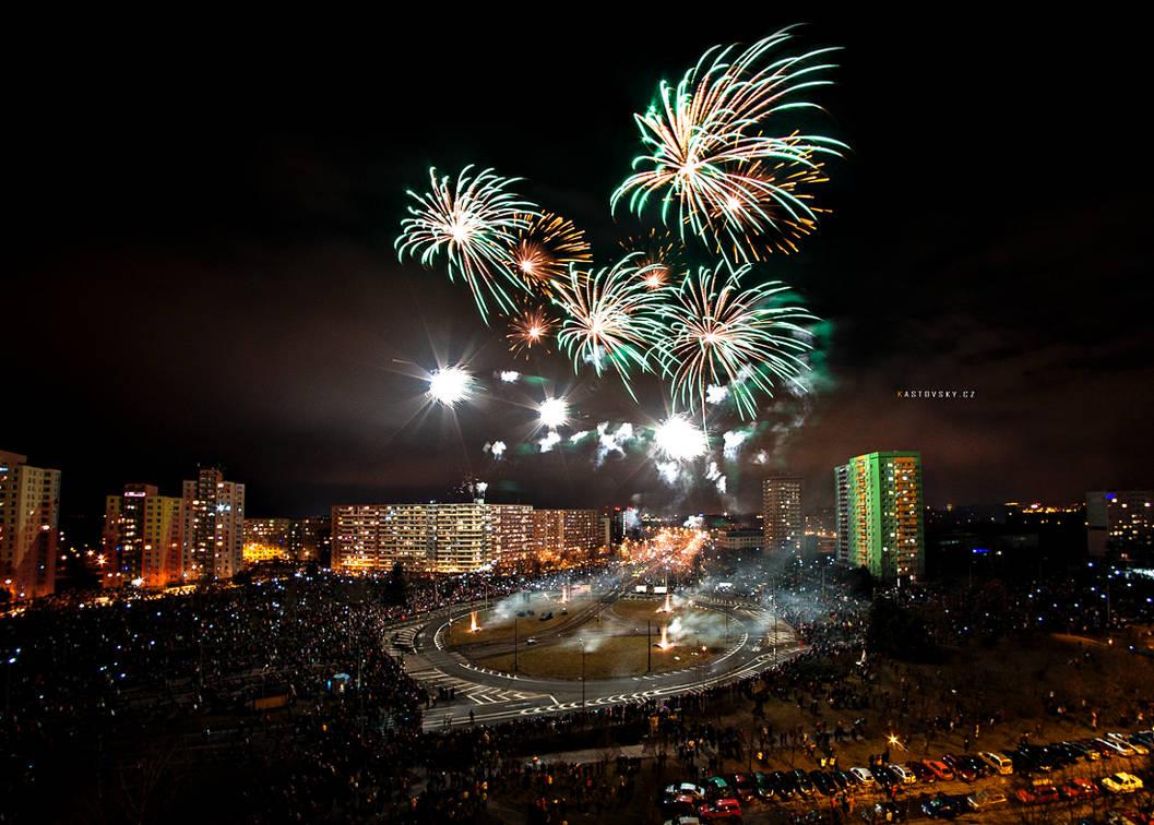 Ostrava - Hrabuvka Firework 02 by Zavorka