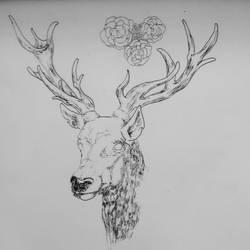 deer - tattoo  by Peatsouille