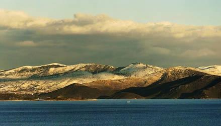 Snowed island by panos-gr