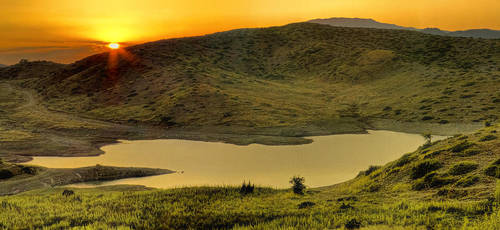 lake sunset by panos-gr