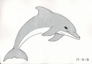 Inktober 2018 Day 19 Dolphin by Shadowphoenix21