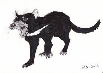 Inktober 2018 Day 23 Tasmanian Devil by Shadowphoenix21