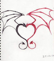 Inktober 2018 Day 25 Dragons heart by Shadowphoenix21