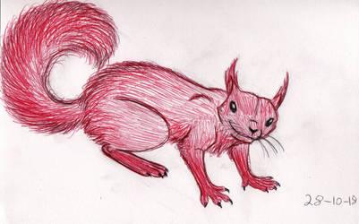 Inktober 2018 Day 28 Red Squirrel by Shadowphoenix21