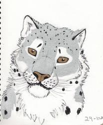 Inktober 2018 Day 29 Snow Leopard by Shadowphoenix21