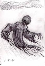 Inktober 2018 Day 31 Dementor by Shadowphoenix21