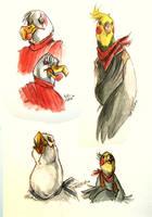 aquarel sketches by tattiOsala