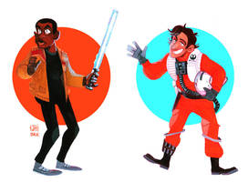 StarWarsFinnPoe by tattiOsala