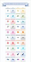 Ribbon Social Media Icons Pack by Designbolts