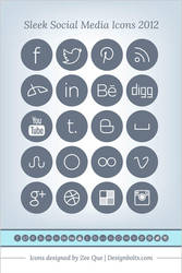 Sleek Social Media Icons 2012 by Designbolts