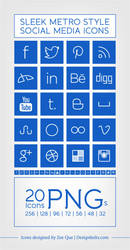Free Metro Style Social Media Icons by Designbolts