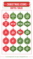 Free Christmas Sale Icon Set by Designbolts