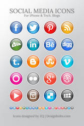 Colorful Free Social Media Icons by Designbolts