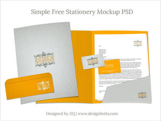Free Stationery Mockup PSD by Designbolts