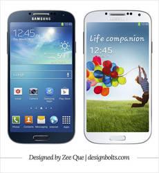 Free Vector Samsung Galaxy S4 mockup by Designbolts