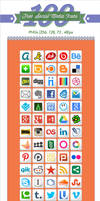 100 Free Social Media Icons by Designbolts