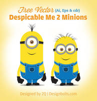Despicable Me 2 Minions Vector (Ai, Eps, Cdr) by Designbolts