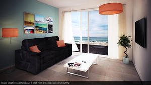 Summer Lounge Room by 3alisha