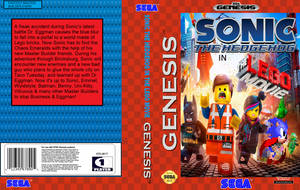 Sonic in The LEGO Movie Box Art by Ghostbustersmaniac