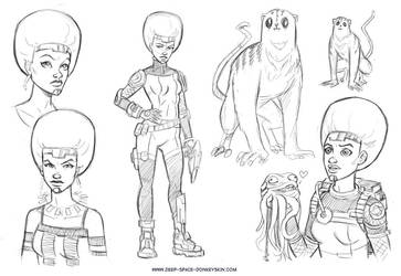 Adult Space Princess Concepts by KR-Whalen