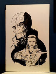 Supreme Leader Snoke and Rey by KR-Whalen