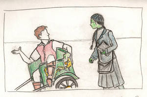 Fiyero and Elphaba by Ellphie