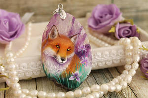 Fox and irises III by LunarFerns