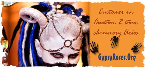 Customer in custom 2 tone shimmer Aries by che4u