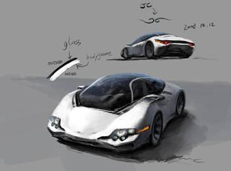 Concept Art : Jerry's Car by JerryCai